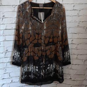 Snake Skin Sheer Tunic/Dress